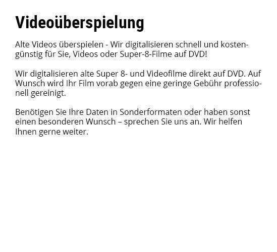 Foto Digitalisierung Video