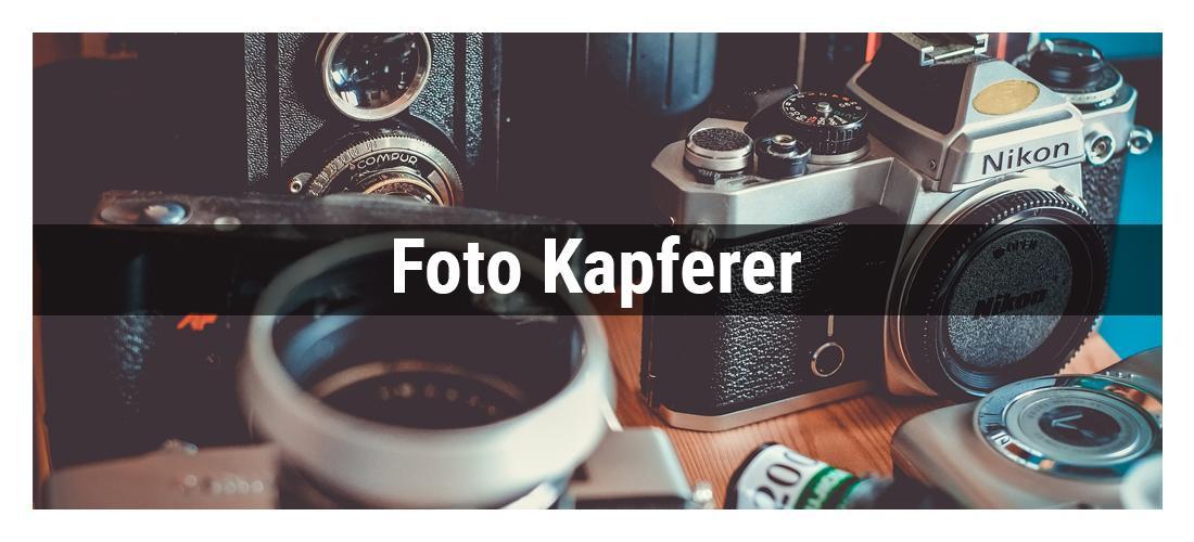Fotostudio in Mosbach - Kapferer: Kameras, Objektive, Bildabzüge, Fotobücher, Wandbilder, Foto, Video Zubehör, Digitalisierung Foto, Dia und Video, Online Shop